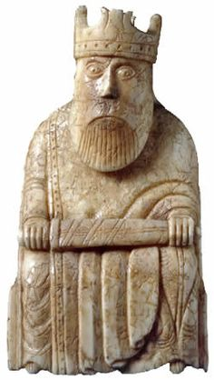 Lewis Chessmen - King. He looks quietly appalled at the prospect of being in charge.