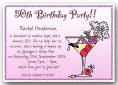 40th 50th 60th 70th 80th 90th personalised funny Birthday Party Invitations x10   Cards & Stationery   Celebrations & Occasions - Zeppy.io