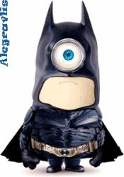 """Minion Batman: Imagens Que Se Mexem http://alegravlis.blogspot.com.br/2015/01/minions-imagens-que-se-mexem.html No filme """"Meu Malvado Favorito"""", os Minions transformaram-se nas figuras principais da trama; e, agora, veja estas criaturas em adoráveis imagens que se mexem!"""