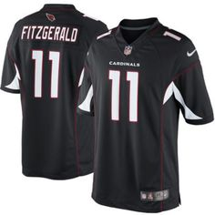 Larry Fitzgerald Limited 11 Player Men's Short Sleeve T-Shirt 2016-17 Season Game Jerseys Black Size XXL(52) -- Awesome products selected by Anna Churchill