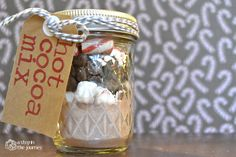 Love these tags!~  Hot Cocoa in a Jar