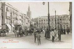 Tarjeta Postal Sevilla Plaza de la Constitución facsimil (CF-356) | eBay