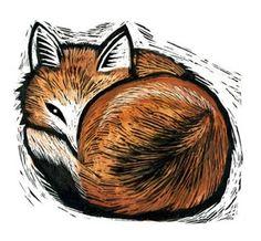 Sleeping Red Fox, by Claudia McGeehee #fox #art