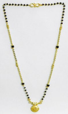 Gold Plated Mangalsutra (Stone and Metal))