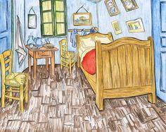 Trademark Fine Art Van Gogh's Bedroom At Arles Canvas Wall Art by Vincent van Gogh, Size: 35 x Multicolor Bedroom In Arles, Bedroom Canvas, Canvas Wall Art, Canvas Prints, Canvas Canvas, Canvas Size, Vincent Van Gogh, Art Van, Van Gogh Pinturas