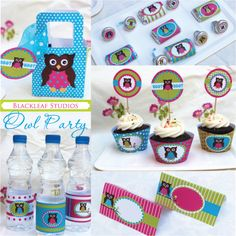 Owl Theme Party Printables is a fun set of do it yourself party supplies that could easily be personalized.