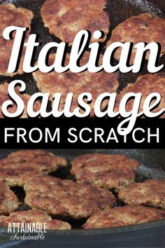 Homemade Italian Sausage Recipe: Make it for Breakfast (or Pizza!) - This spicy Italian sausage recipe is surprisingly easy to make at home. The level of spice can be a - Ground Pork Sausage Recipes, Spicy Italian Sausage Recipe, Italian Sausage Seasoning, Homemade Sausage Recipes, Homemade Breakfast Sausage, Meat Recipes, Charcuterie, Foodblogger, Sausages