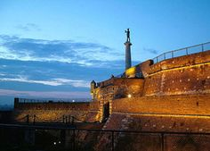 The Statue of Winner. Central Place at the Belgrade Fortress. The whole City can be seen from here.