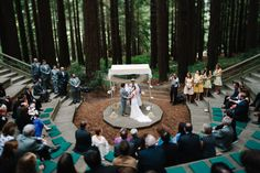 October 2013, UC Botanical Garden at Berkeley Intimate ceremony under a redwood canopy