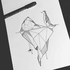 Ice ice baby #illustration #illustrator #design #sketch #drawing #draw #linework #ink #pen #art #artwork #artist #artistic #instaart #geometry #geometric #minimal #abstract #penguin #mountain #boat #fineliner #tattoo #evasvartur #instafollow #blackwork #blackworkers #sketchbook