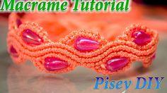 How to make macrame   SNAKE or a WAVE  Bracelet  tutorial , Friendship D...