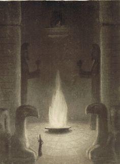 """""""Die Ewige Flamme"""" aka """"The Eternal Flame"""" - (1902-1905) ~ by Alfred KUBIN."""