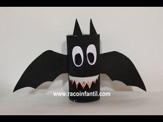 Un murciélago hecho con rollo de papel higiénico                                                                                                                                                                                 Más