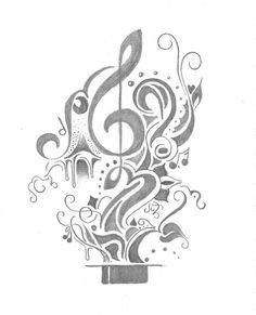 music watercolor tattoos   music tattoos