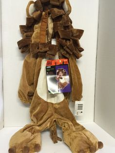 Lion Costume Infant 6-12 Months Plush One Piece Wizard of Oz Halloween    eBay