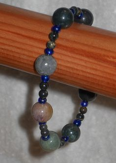 Indian Agate Beaded Bracelet with Seed Beads #spiritlake #bubbleboyboutique