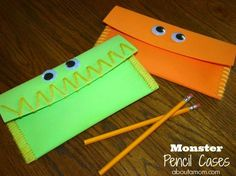 Monster Pencil Cases by @Laura Jayson and Angela #Michaelsbts==washi tape