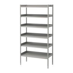 IKEA - HINDÖ, Shelving unit, Suitable for both indoor and outdoor use.Also stands steady on an uneven floor since the feet can be adjusted.You can adjust the height of the shelves to suit your needs.The shelving unit is durable, easy to clean and protected from rust, as it is made of powder-coated steel.