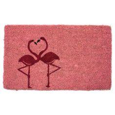 Flamingos Hand Woven Coir Doormat - 1022S, Durable