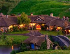 The Green Dragon Inn, HobbitTown, North Island, New Zealand - Built During the Filming of The Hobbit.
