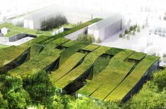 Green roofs and good design go hand in hand, and this rolling grassy extension to the Marcel Sembat High School in France is certainly no exception. Built right next to a public park, the project presented an interesting challenge: take a simple builing program and create a beautiful link between the city's urban infrastructure and its green public spaces.