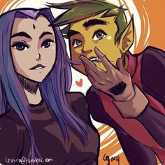 ~ Raven and Beast Boy - Bbrae