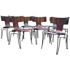 Anziano Dining Chairs by John Hutton for Donghia | From a unique collection of antique and modern dining room chairs at https://www.1stdibs.com/furniture/seating/dining-room-chairs/