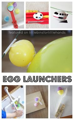 This collection of egg launchers Easter science activities is perfect for Easter STEM! Awesome ways to launch plastic eggs that kids and adults will enjoy!