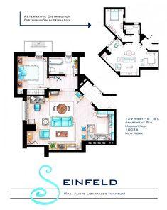 Jerry Seinfeld Apartment floorplan v2 by nikneuk.deviantart.com on @deviantART