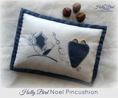 Holly Bird Noel Pincushion Jenny of Elefantz Christmas Main Photo
