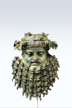 Bronze handle attachment in the form of a mask, Greek or Roman, Late Hellenistic or Early Imperial, 1st century B.C.–1st century A.D.
