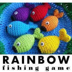 Rainbow Fishing Game - Free Pattern