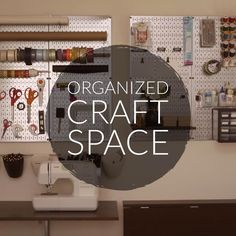 Wall Control Pegboard Organization! A great read on getting your Craft & Hobby Space organized with Wall Control pegboard products!