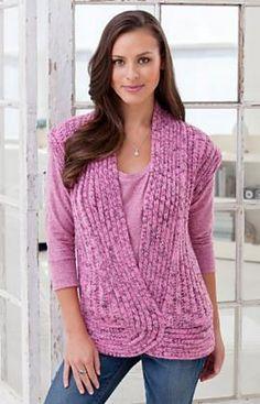 Ravelry: Rib and Twist Vest pattern by Heather Lodinsky