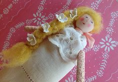 Hello,my Peeps. I made these 12 sachet dolls and it was fun. . This is number 1. Pretty In Pink. This is a long post,...
