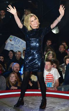 Cheerful: But Katie was not given a warm reception by the baying audience on Wednesday evening Katie Hopkins, Big Brother House, Celebrity Big Brother, Wicked Witch, Wednesday, Cheer, Reception, Punk, Warm