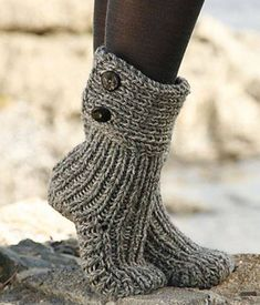 FREE Pattern for Cozy Slipper Boots