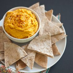 Spicy Sweet Potato Hummus Recipe Appetizers with sweet potatoes, olive ...