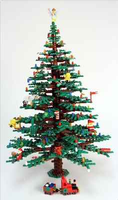 This week we're celebrating the power of lego. Lego has brought some… Lego Christmas Tree, Noel Christmas, All Things Christmas, Christmas Crafts, Christmas Decorations, Christmas Ornaments, Xmas Tree, Primitive Christmas, Design Lego