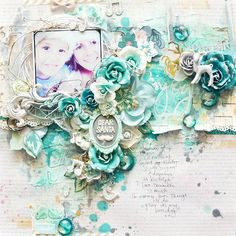"""Happy New Year - Stacey Young's January 2015 Shares """"Dear Santa"""" Christmas Layout for 2 Crafty Chipboard ~ Christmas Layouts."""