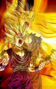 Goku And Gohan Wallpapers Wallpapers) – Art Wallpapers San Gohan, Goku And Gohan, Dragon Ball Z, Kid Buu, Manga Dragon, Z Wallpaper, Got Dragons, Fan Art, Digimon