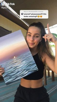 Easy Canvas Art, Cute Canvas Paintings, Canvas Painting Tutorials, Small Canvas Art, Easy Paintings, Canvas Painting Sunset, Painting Videos, Cool Art Drawings, Cool Artwork