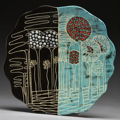 2 Web Plate 4 Love this work by Marcia Neiditz