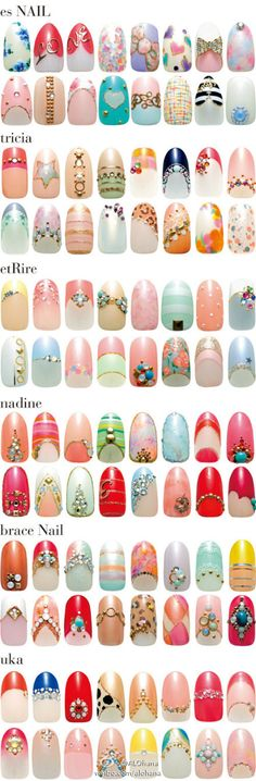 nails , some grt ideas to design your own nail s or gel, acrylic , false infact any some pretty 1 s . Sharon Fahy .