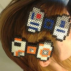 BB-8 and R2D2 Star Wars bows perler beads by boomerwashere