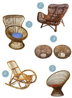 Franco Albini cane chairs
