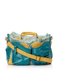 Hydrangea Messenger Bag