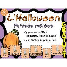 L'Halloween - Phrases mêlées - GRATUIT