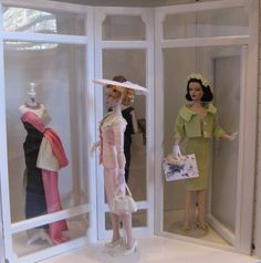 """The Studio Commissary: Pics of my display cabinet >>  -  Posted by Mike on 3-29-2015.  This picture """"Ivy bumps into Gene window shopping"""".   Picture 5 of 6."""