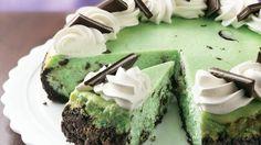 Chocolate Grasshopper Cheesecake